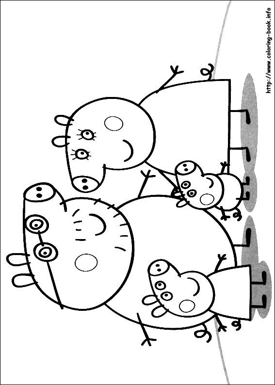 Peppa Pig coloring picture | embroidery | Pinterest | Pig party ...