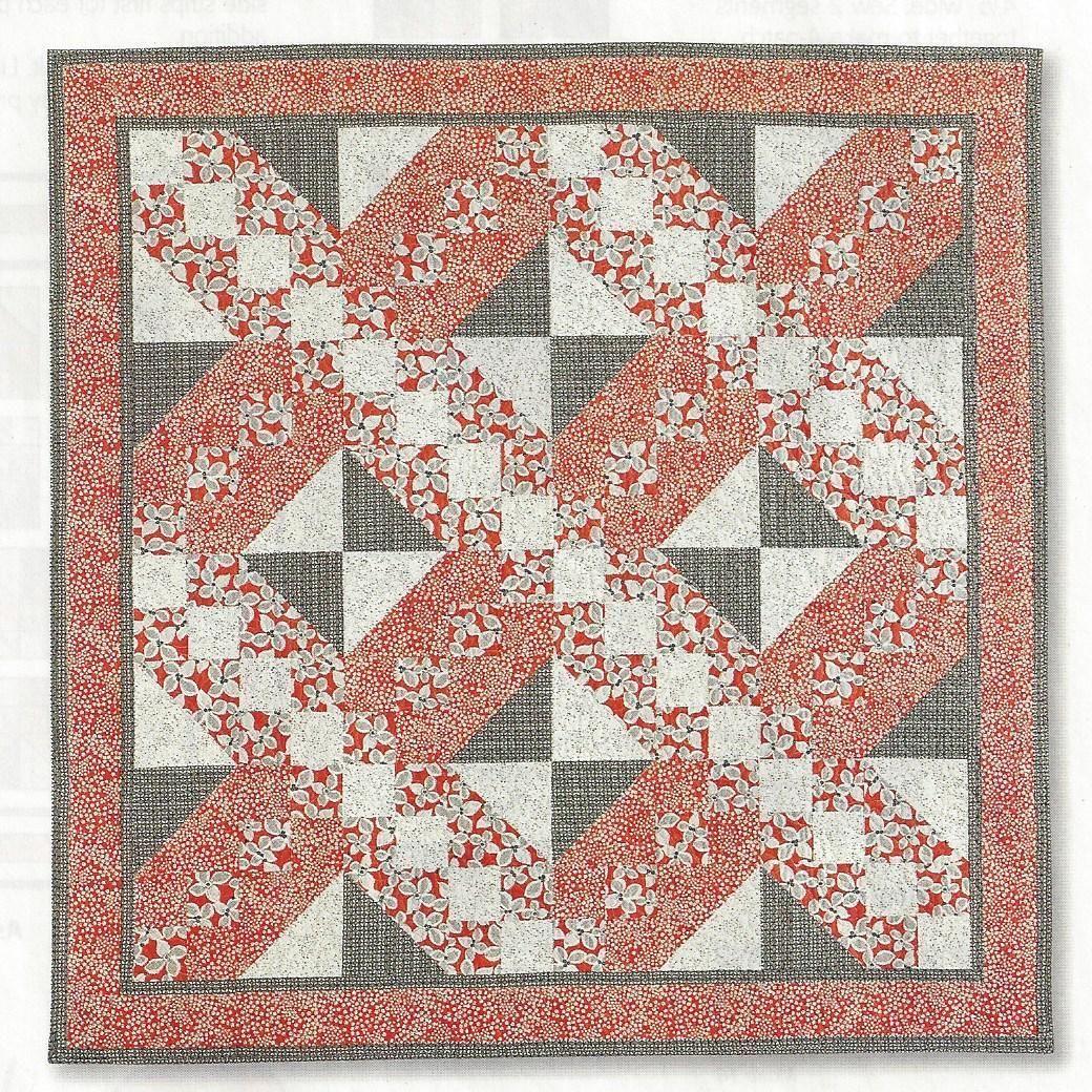 Quilt Pattern Poppy Love Bold Color Big Blocks Scarlet Gray OSU ... : big and bold quilt pattern - Adamdwight.com