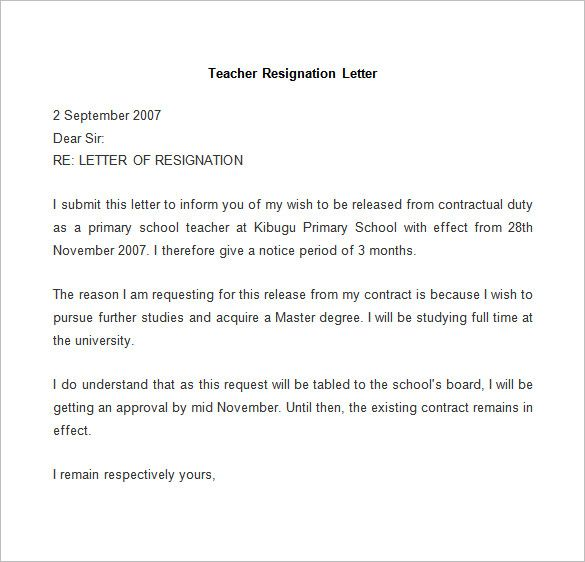 Resignation Letter Template Free Word Pdf Documents Download Nurse