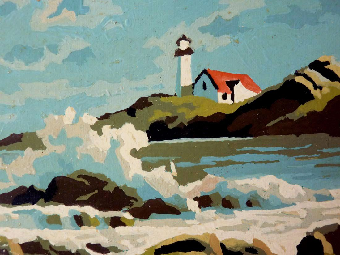 Vintage Lighthouse Paintings Paint By Numbers Pair