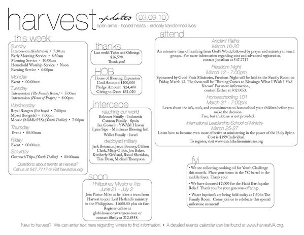 Harvest Assembly Bulletin By Victoria Moore Via Behance  Abc