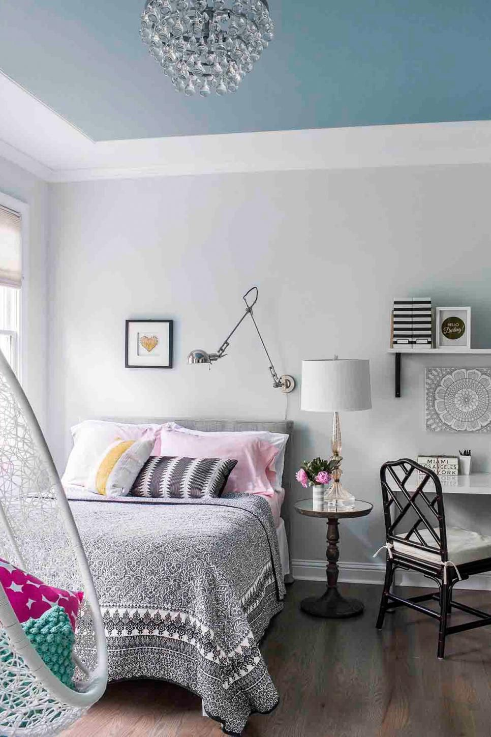 Designers dish on why you should paint your ceiling bedroom ideas