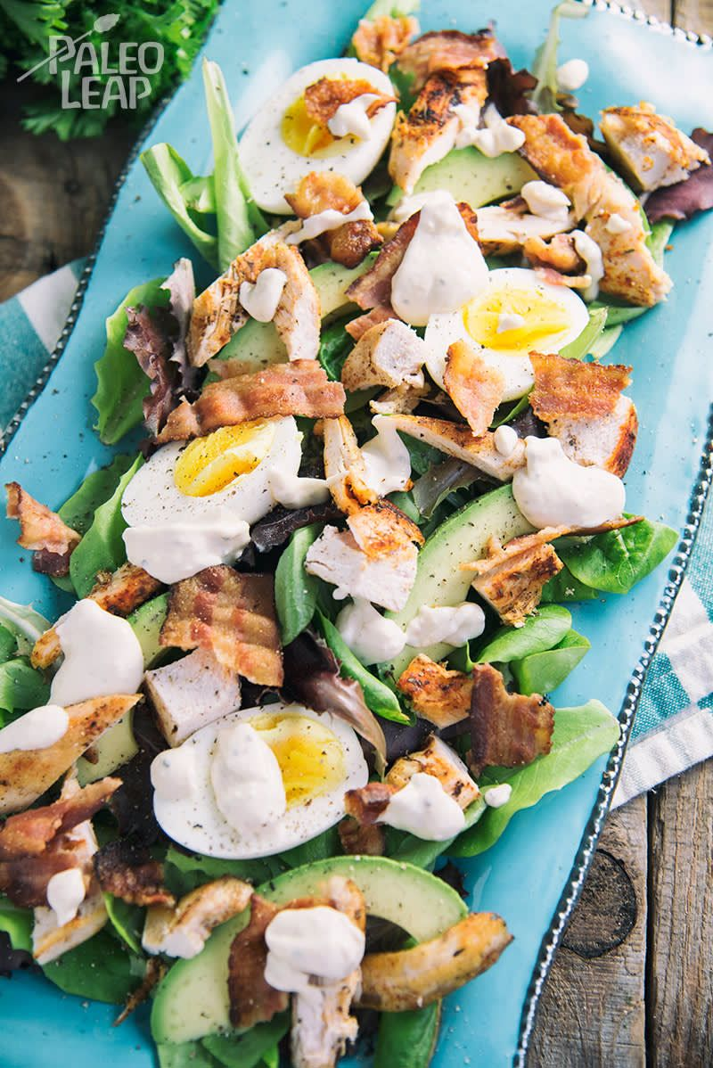 Photo of Keto Chicken And Bacon Loaded Salad