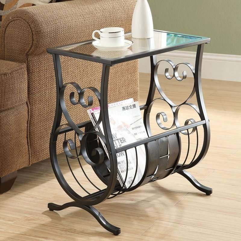 40c1af61c3 Metal Glass Magazine Table Coffee Bottom Rack Side End Table Regal Living  Room: $73.99 End Date: Monday Oct-29-2018 7:15:59 PDT Buy It Now…