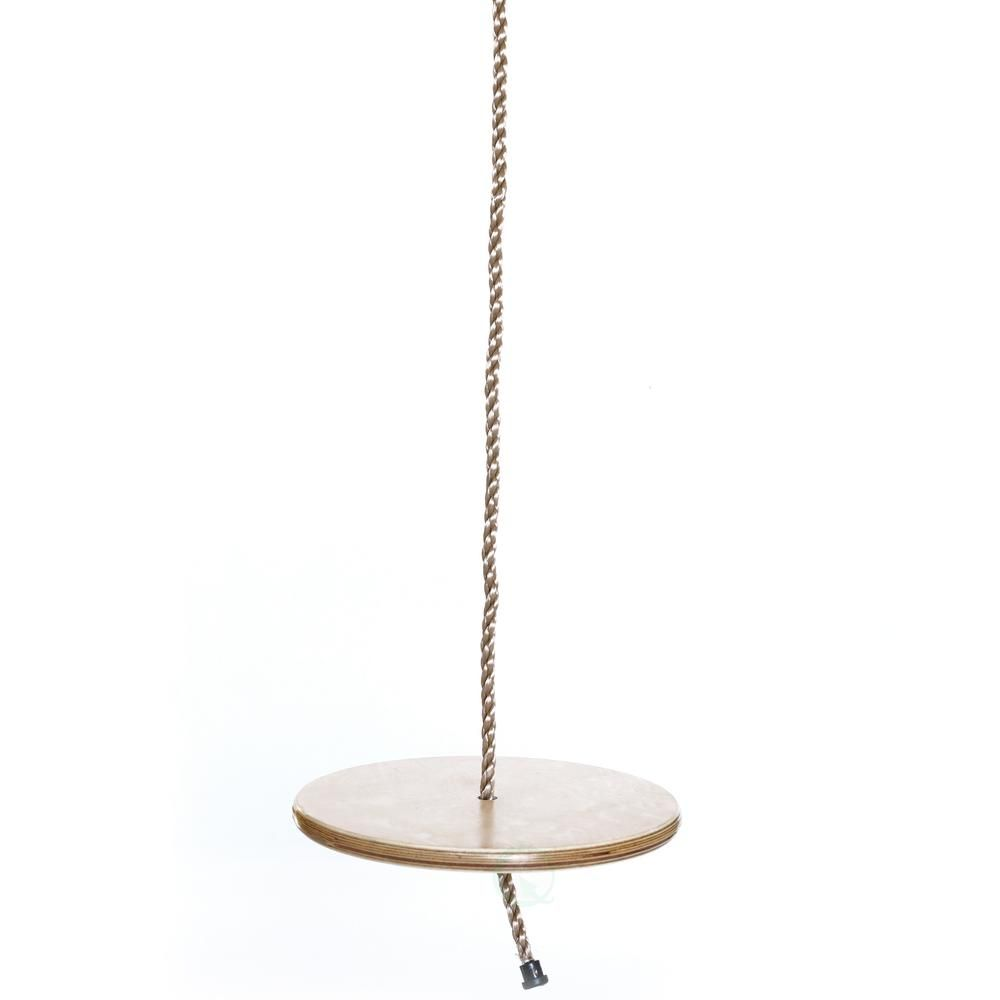 Playberg Wooden Round Disc Plate Swing Seat With Hanging Rope Qi003374 The Home Depot In 2020 Swing Seat Hanging Rope Wood Swing