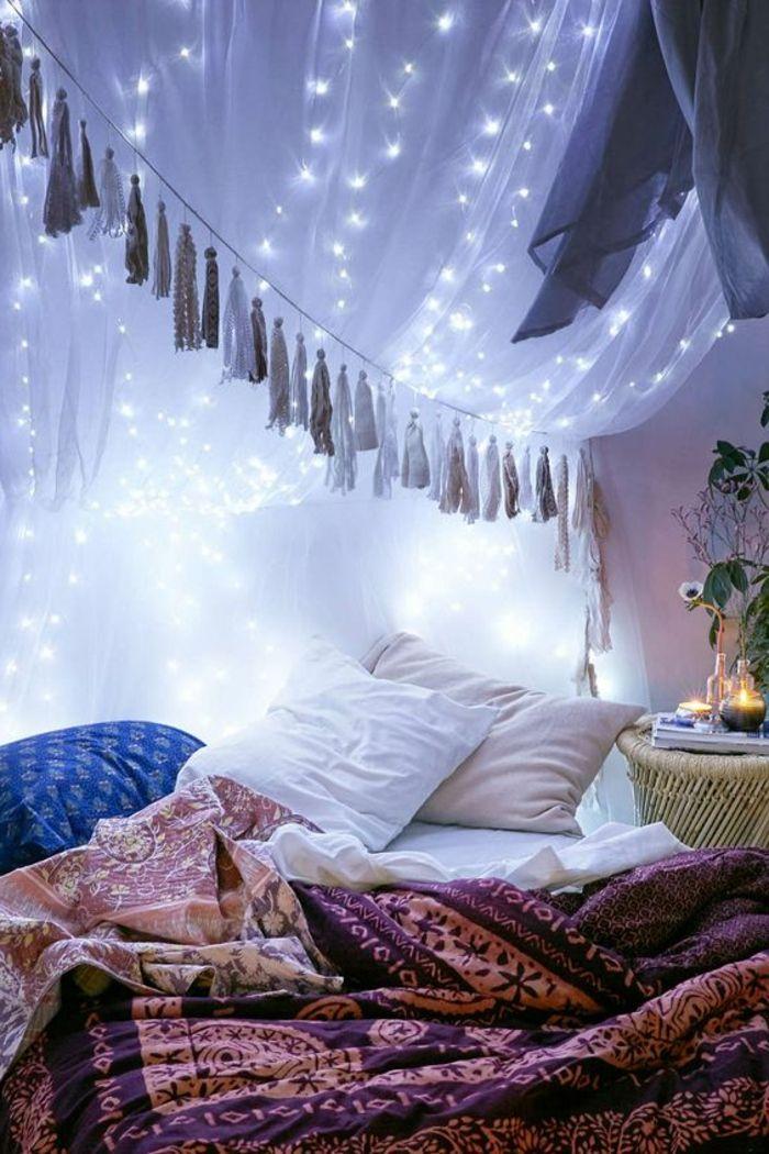 60 idées en photos avec éclairage romantique! | Chambre à coucher ...
