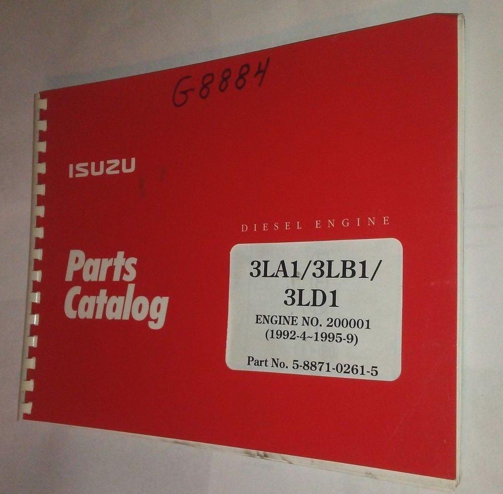 Isuzu 3LA1 3LB1 3LD1 Parts Catalog Book Manual Diesel Engine 09/95