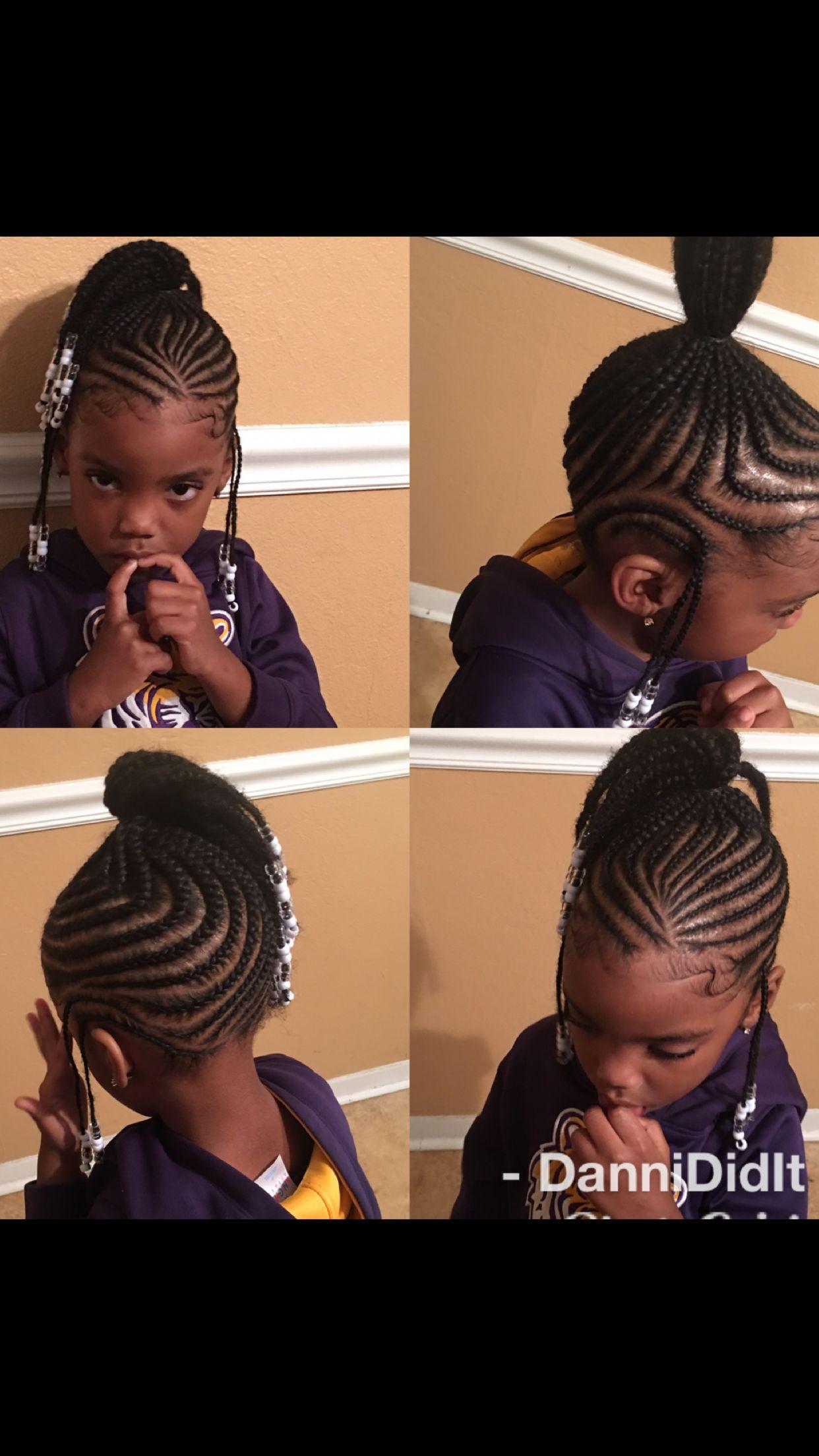 Kids Braid Styles Natural Hair Protective Styles Scalp Braids