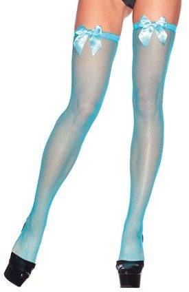 173f4d30ba42d Neon Blue Thigh Highs | Neon Blue :) | Sexy stockings, How to wear ...