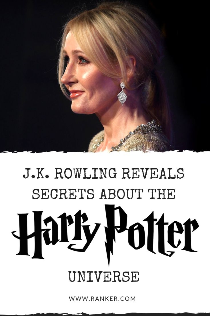 Secrets about Harry Potter from J.K. Rowling! The author ...