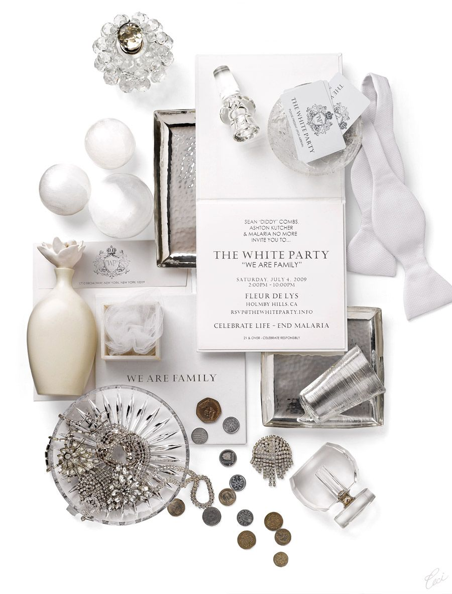 white party --- everything is white, including type. okay maybe ...