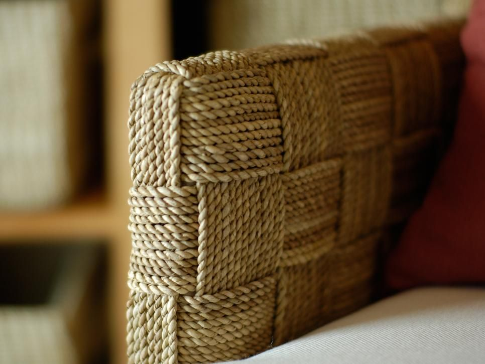 Hand-woven lampakanay rope arm chairs lend an unexpected organic twist in the home office.
