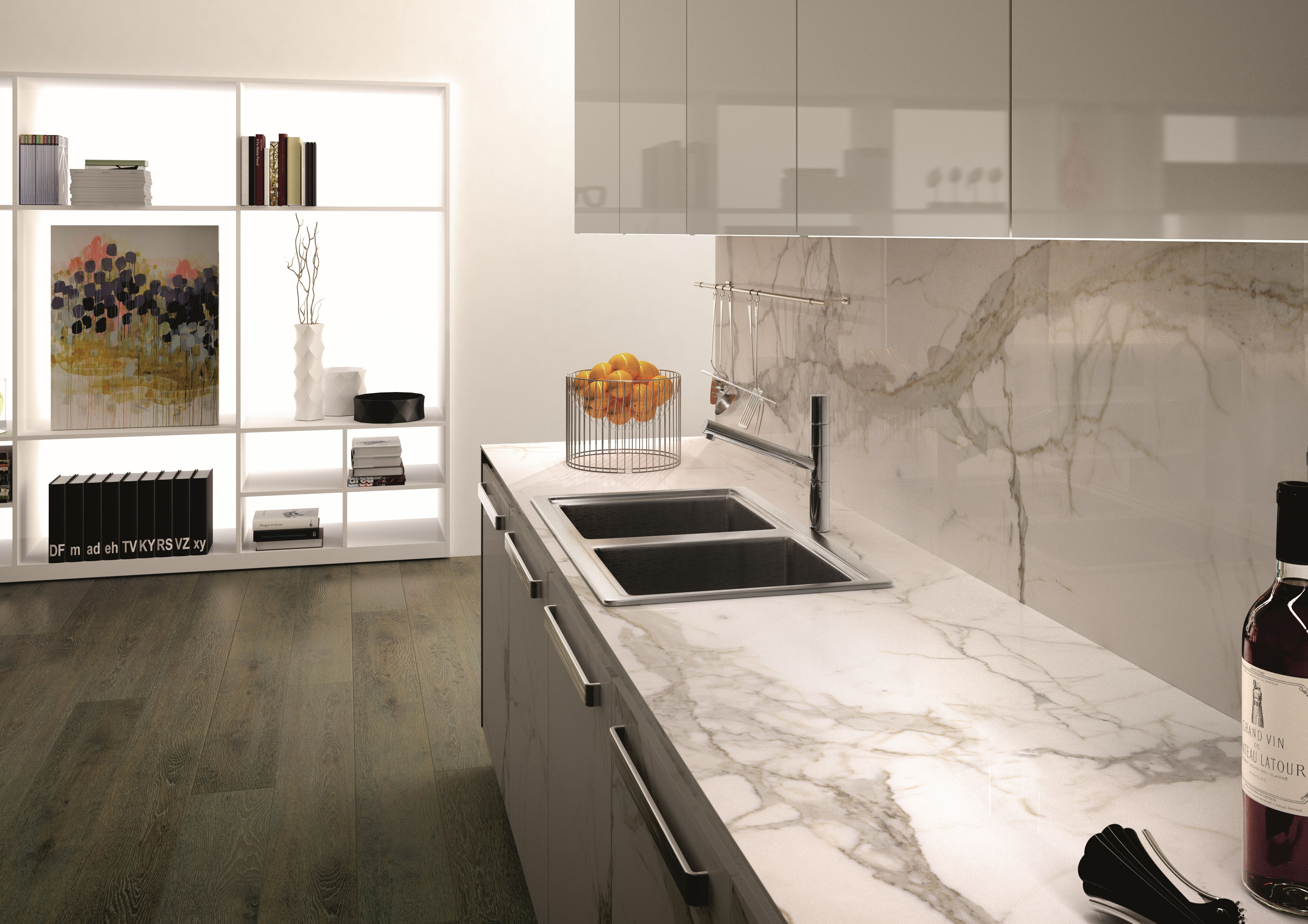 Marble texture porcelain tile for kitchen backsplash ...