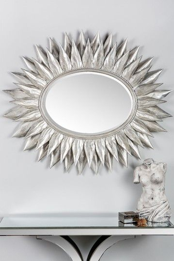 Posh Home Accents Oval Silver Sunburst Mirror Hautelook Silver Sunburst Mirror Sunburst Mirror Sunburst