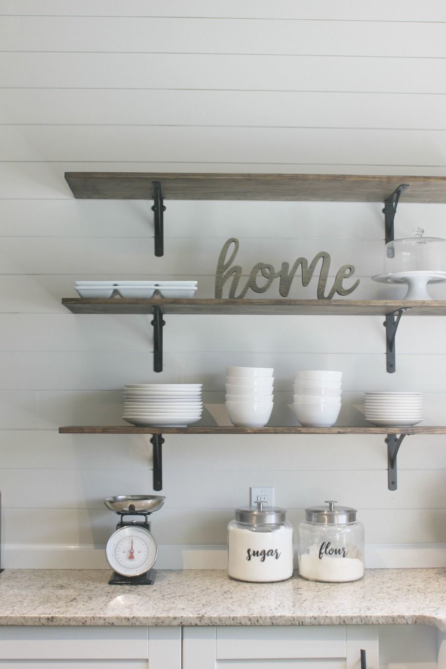 For The Farmhouse Style Loving Minimalist Diy Kitchen Shelves