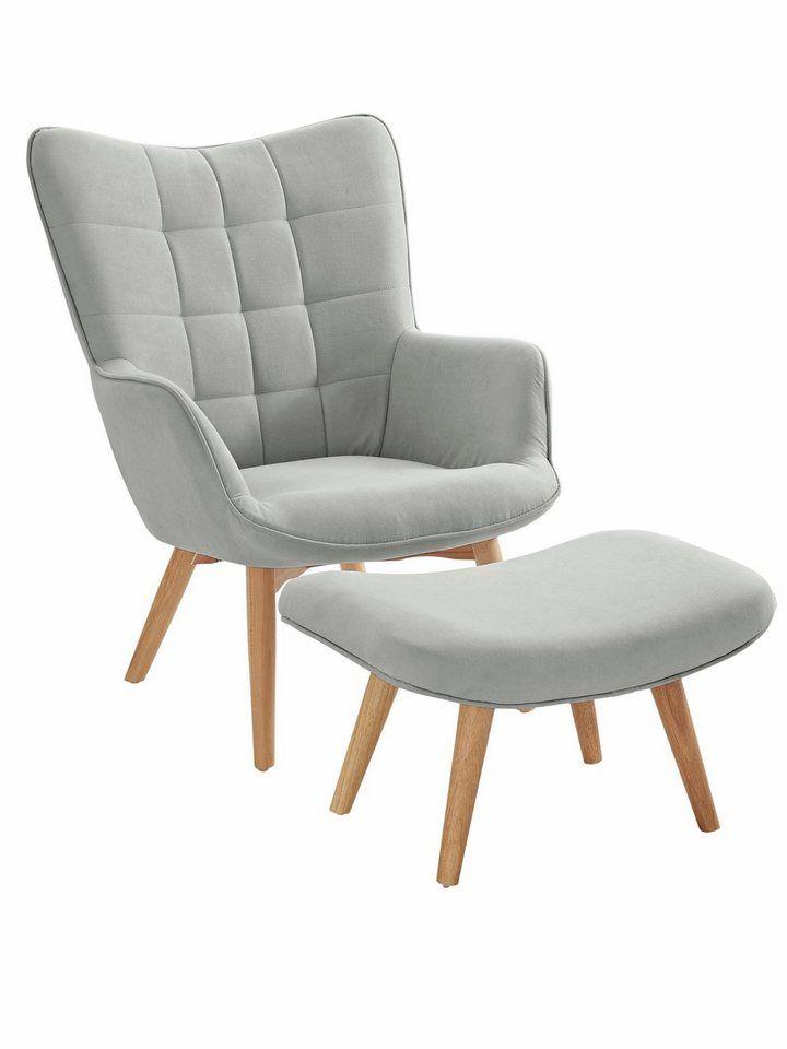 Heine Home Sessel Hocker Dekorative Ziersteppung Und Kederheftung Online Kaufen Mit Bildern Sessel Mit Hocker Sessel Wohnzimmer Sessel