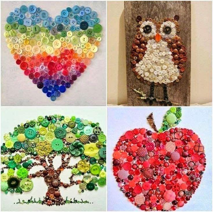 Tips de reciclaje, los botones Basteln Pinterest Botones - trabajos manuales