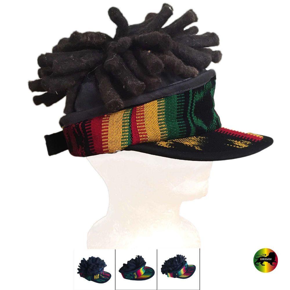 f9aae12d40b Rasta Visor Dreadlocks Dread Wig Hat Rastafari Costume Jamaica Reggae  Marley 1LV  nicemon  RemovableVisorwDreadsVeryThick