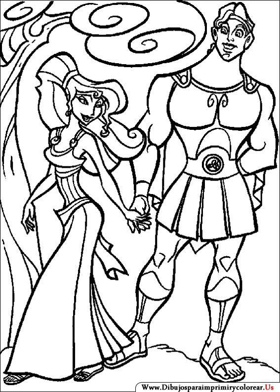 Dibujos de Hercules para Imprimir y Colorear | Coloring Pages ...