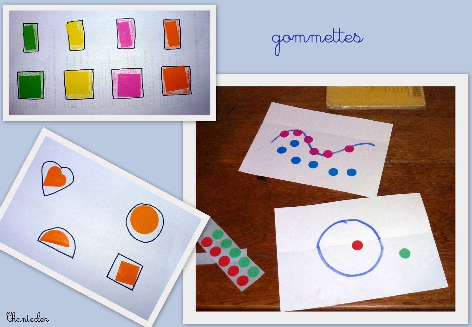 Montessori Ief Ecole A La Maison Apprendre En Famille Education Chantecler Gommette Activite Enfant Travaux Manuels 2 Ans
