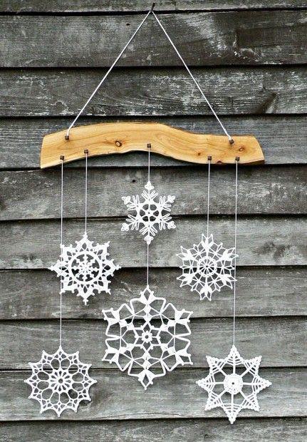 Winter Deko gehäkelte Schneeflocken Sterne | Winter und Advent ...