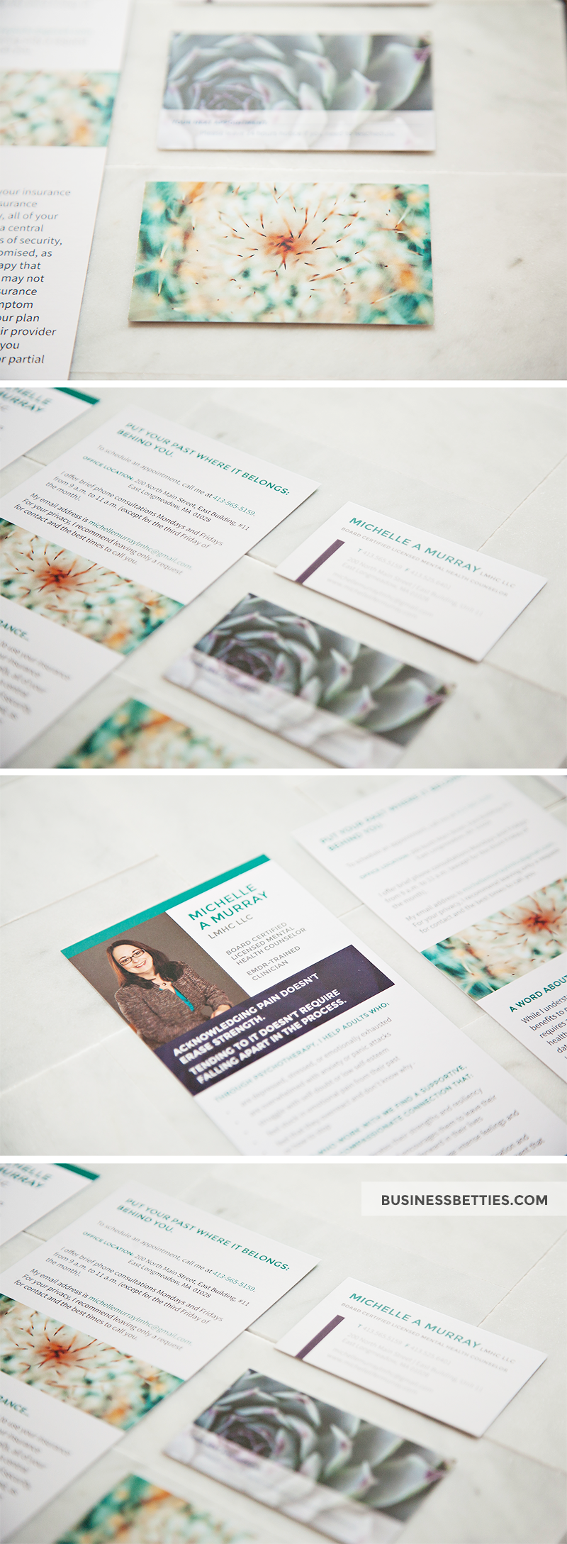 Business Card and Rack Card Design for Mental Health Counselor ...