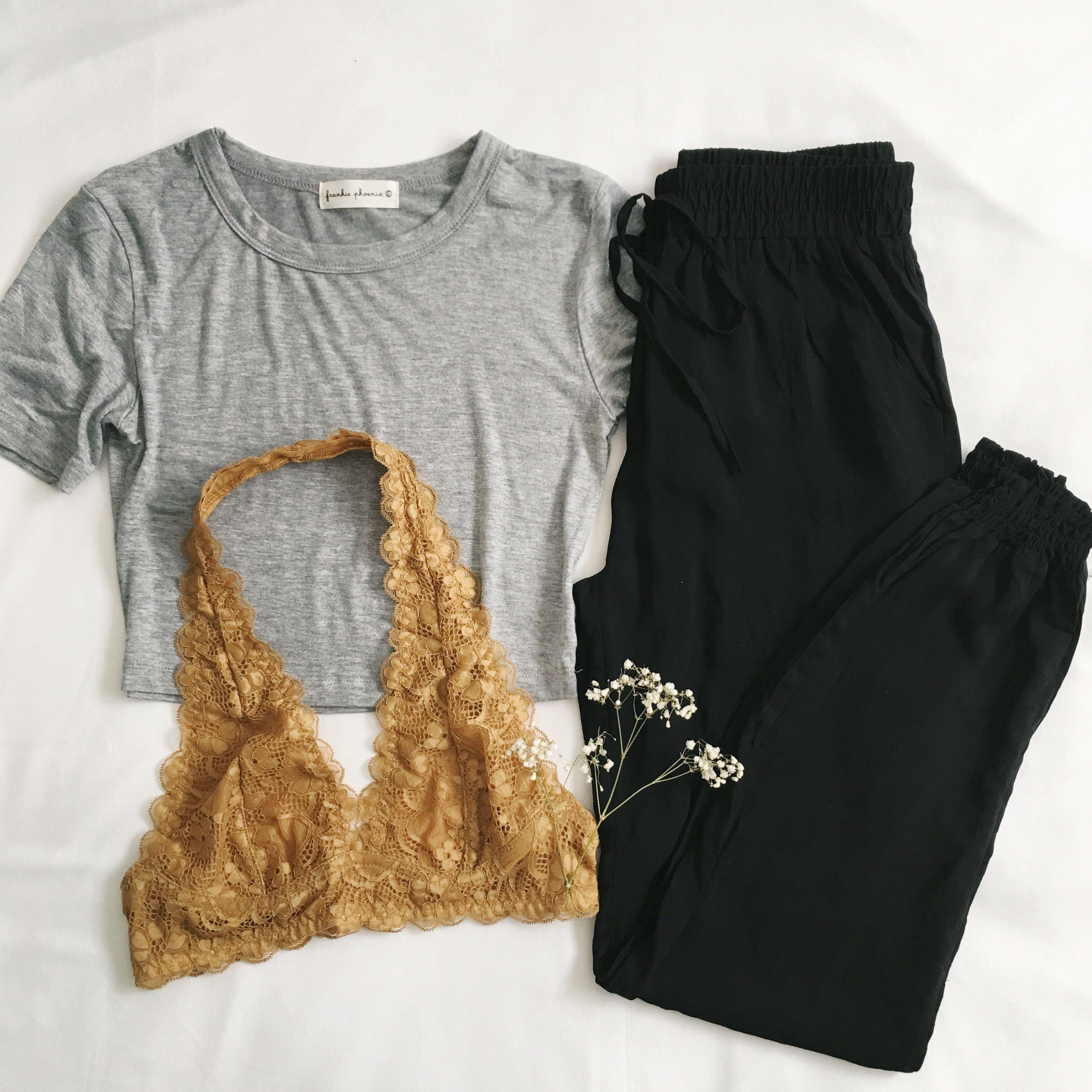 Get comfy with: Jane Crop Tee • Clara Pocket Joggers • Kara Bralette