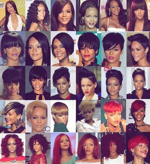 Rihanna Rihanna Hairstyles Natural Hair Weaves All Hairstyles