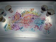 Pintura sobre tabla  luz.
