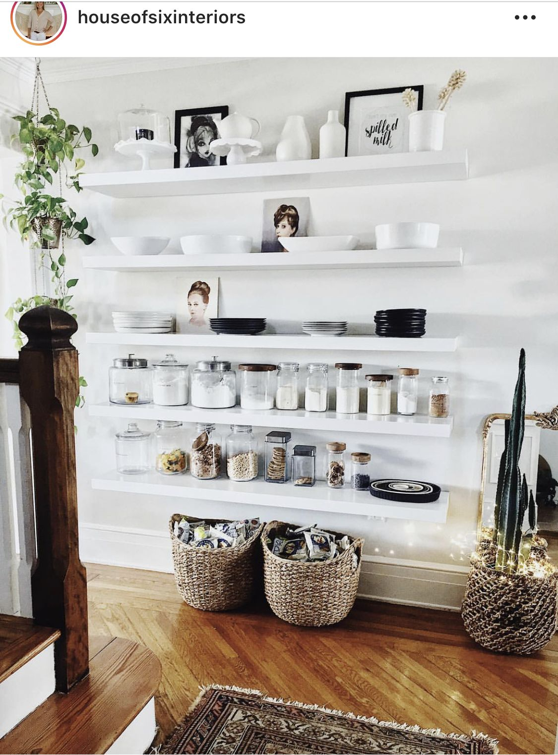 Pin by Leslie Granese on Shelves Open pantry, Open