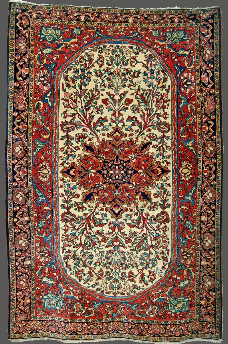 Quadrifoglio Gallery Offers An Outstanding Selection Of Antique Persian Fereghan Sarouk Rugs And Carpets Newton