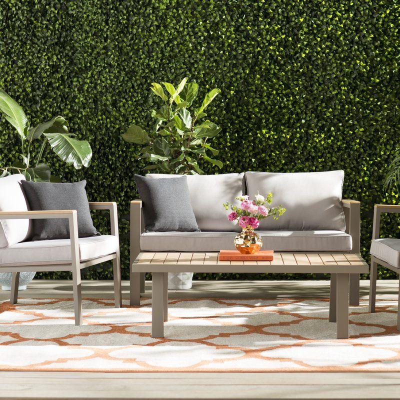 Aeliana 4 Piece Sofa Set Sofa Set Outdoor Sofa Sets Contemporary Outdoor Sofas