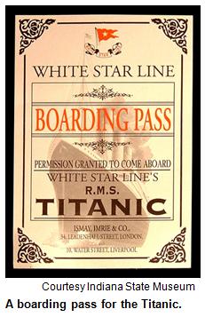 Titanic Boarding Pass 231x357