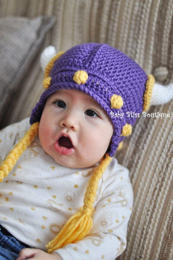 4aea0bee97d Minnesota Vikings with Braids 0 to 3M   3M to by BabyBlissGinny ...