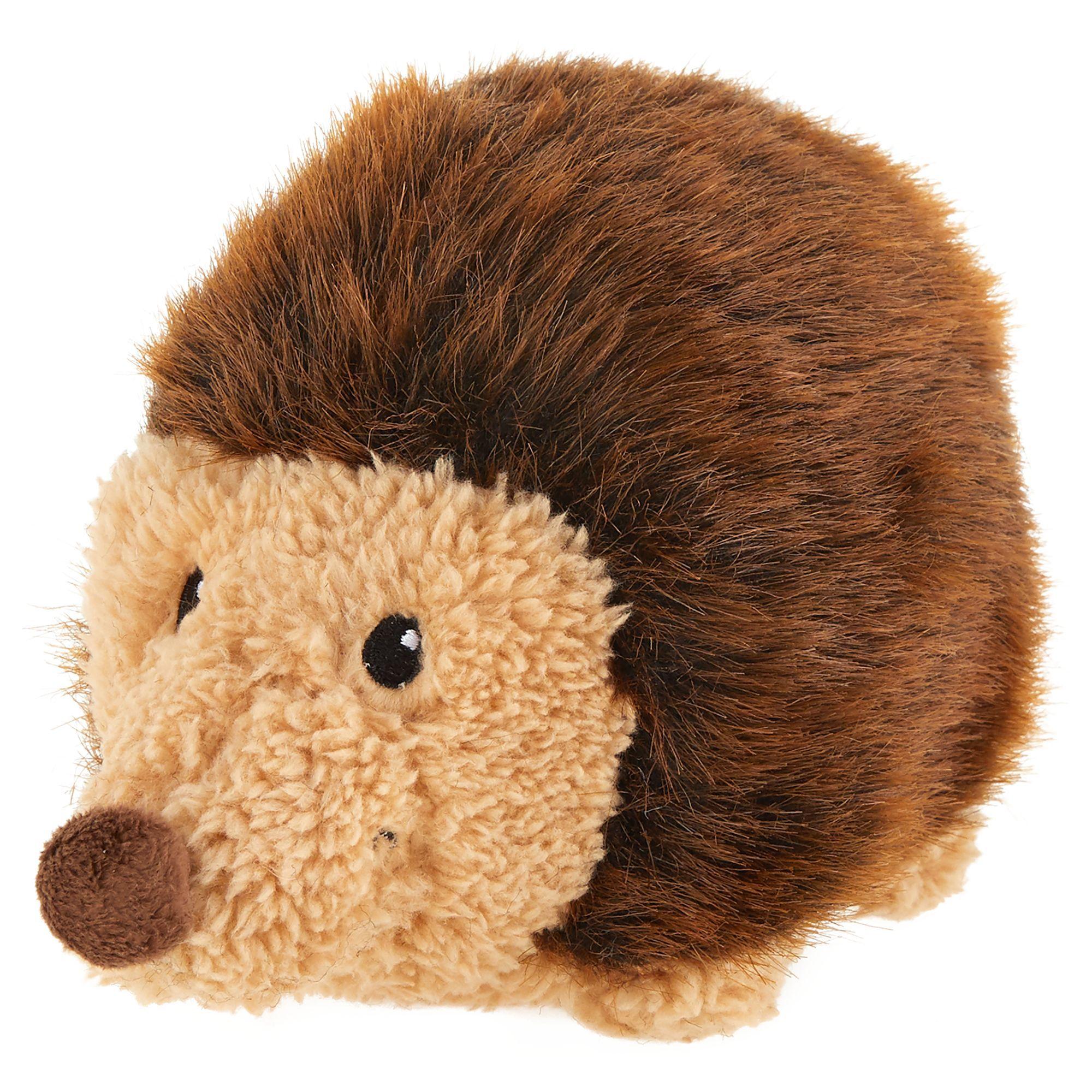 Top Paw Hedgehog Dog Toy Plush Squeaker Size Medium Black