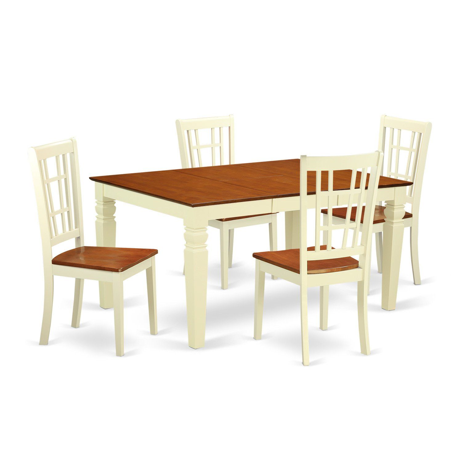 East West Furniture Weston Weni5Bmkw 5 Pc Dinette Set With
