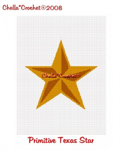 Chella Crochet Primitive Texas Star Afghan Crochet Pattern Graph