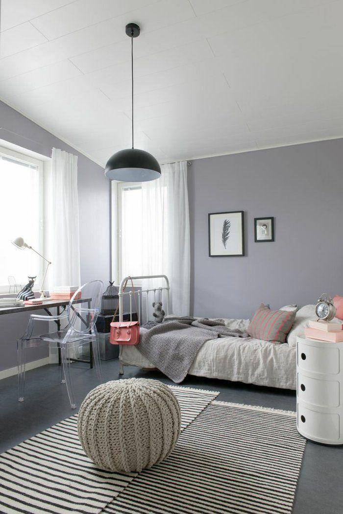 Möbel Im Coolen Jugendzimmer Sitzkissen Läufer Teenager Mädchen Schlafzimmer,  Schlafzimmer Themen, Kinderzimmer, Graue