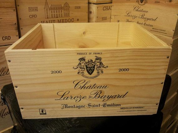 Traditional Wooden Wine Box With Sliding Lid Crate