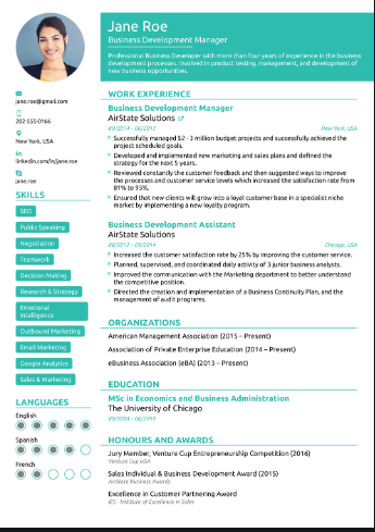 Best Resume Format for Freshers in MS Word Free to