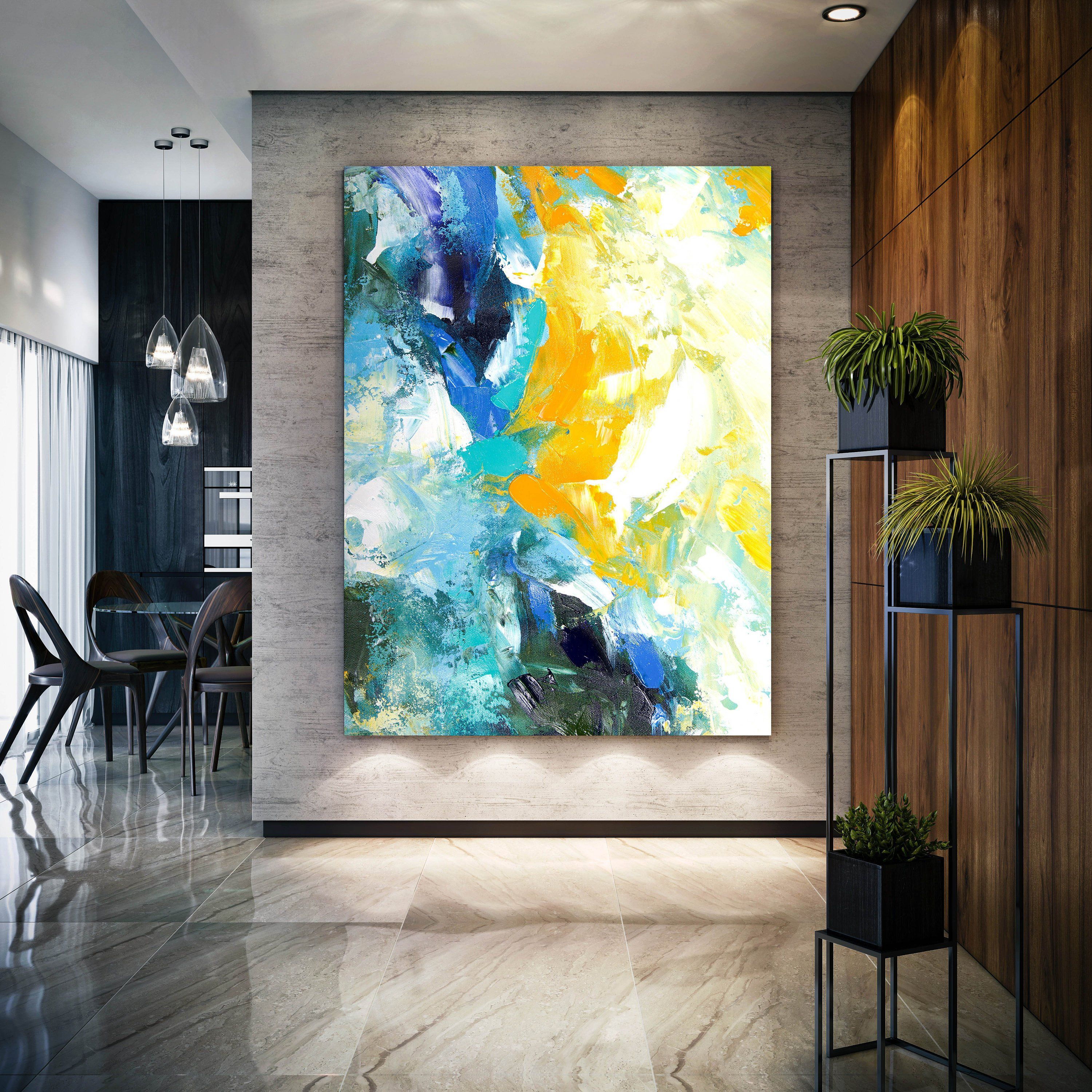 Extra Large Wall Art Abstract Painting On Canvas Large