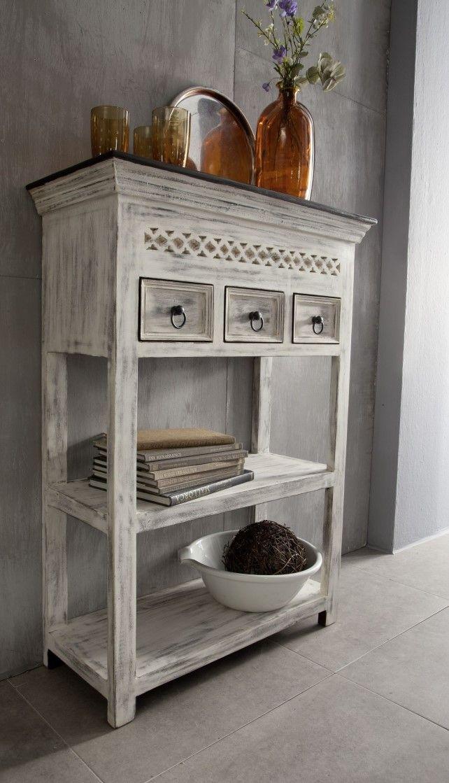 Konsolentisch Mango Akazie 80x35x110 Weiss Gewachst Castle Antik 235 Konsolen Tisch Konsolentisch Und Tisch