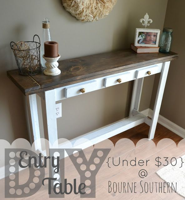 Entry Table. I Am Doing It Without The Faux Drawers, With The Base In