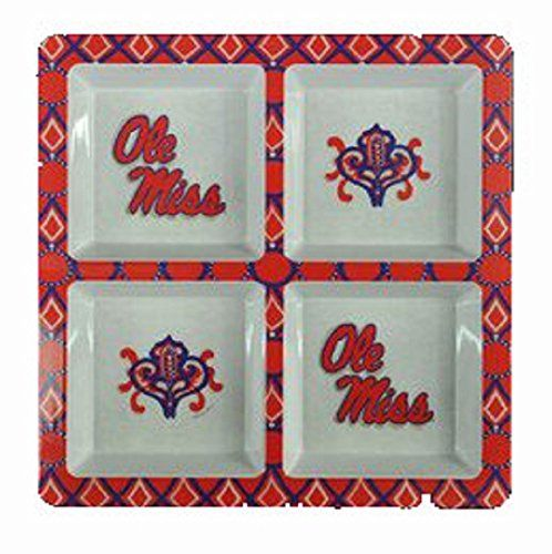 Melamine 4 Section Tray NCAA Team: Ole Miss Cumberland De... http://a.co/gfCFHq6
