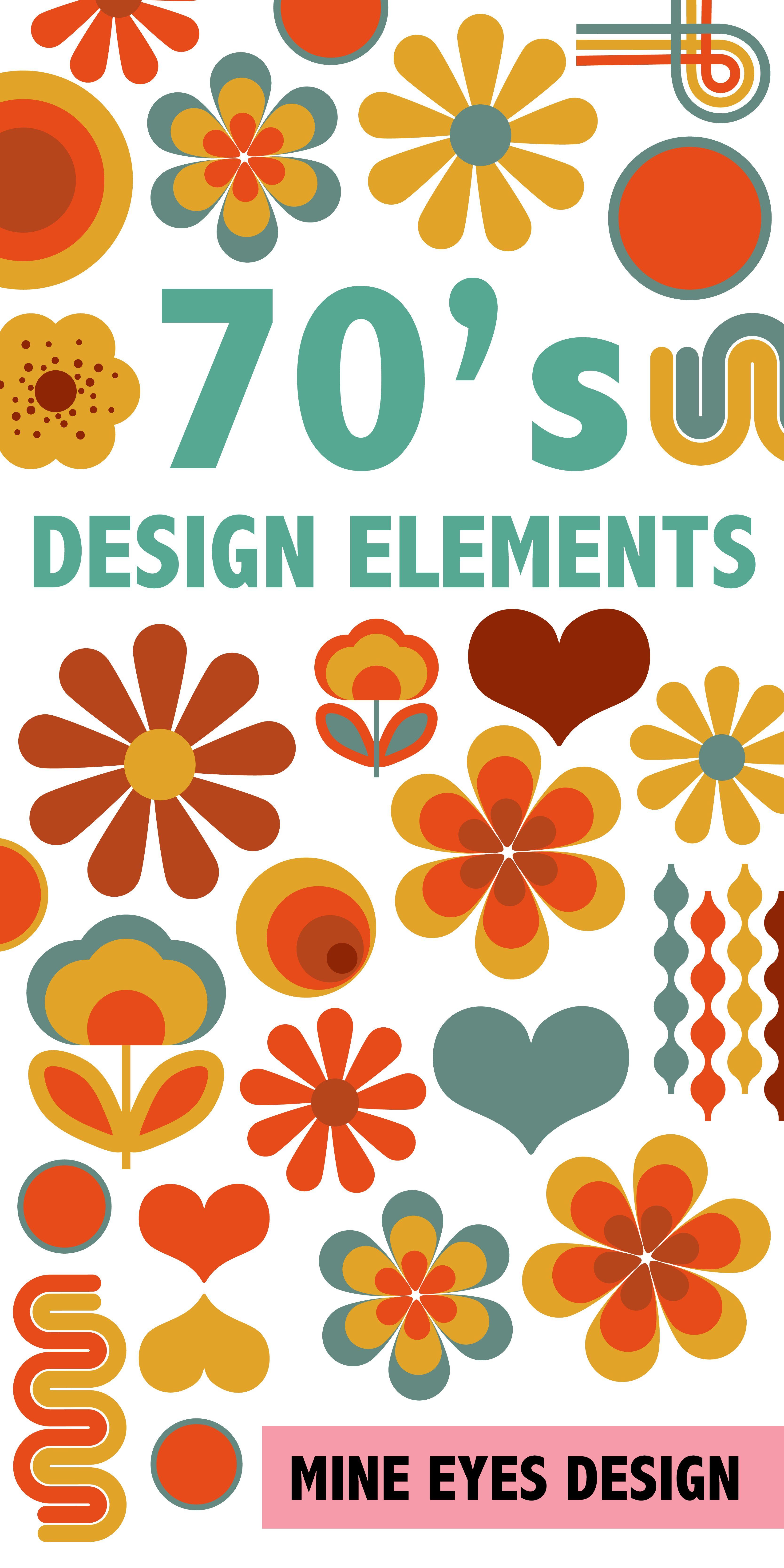 70's Digital Design Elements