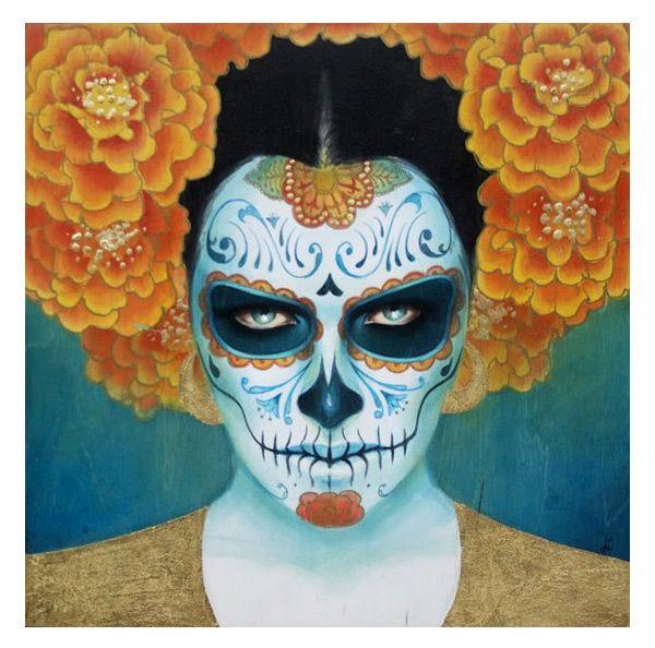 Image detail for -mexican-skull-painting   Sylvia ji, Art