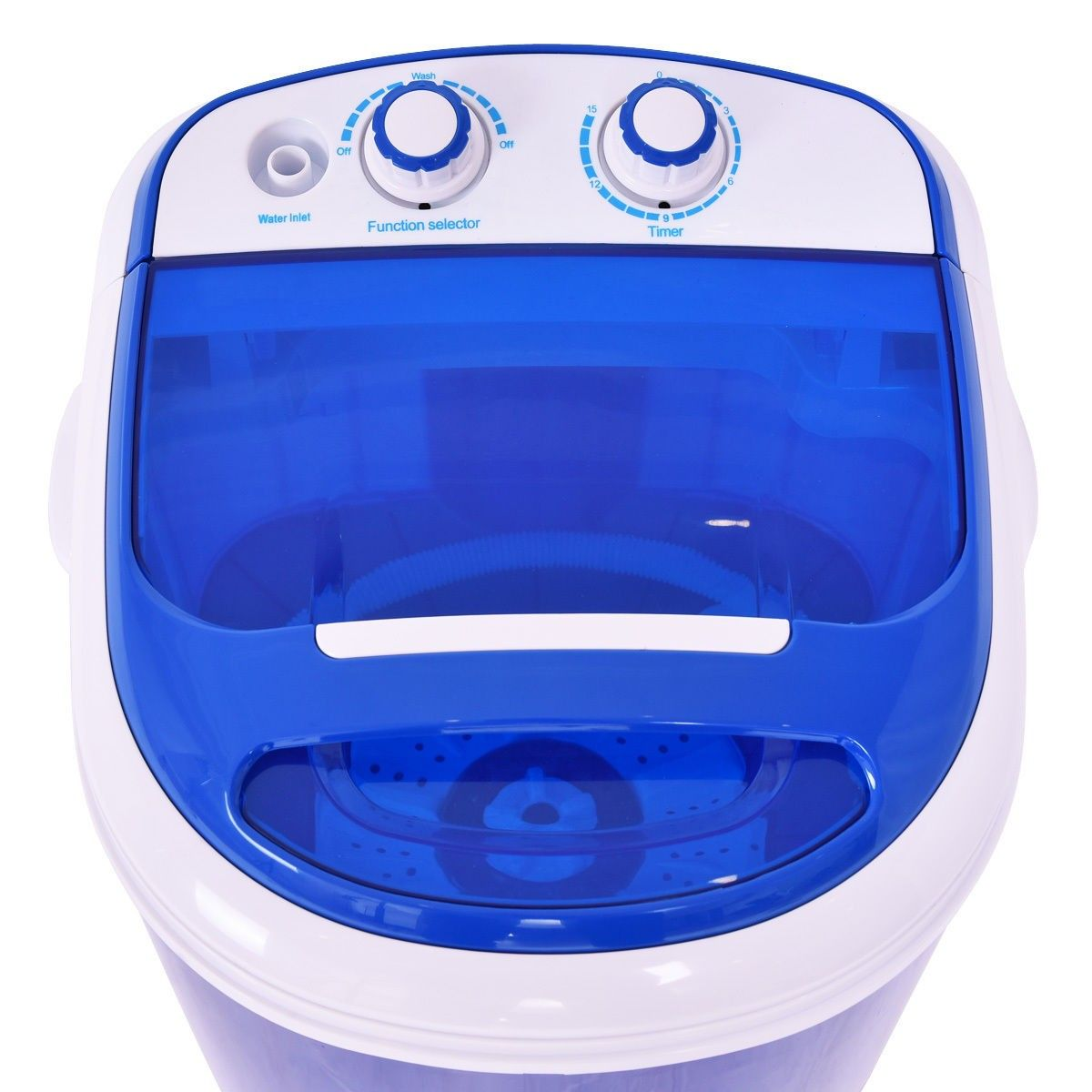 Mini Portable Washer Washing Machine Color Blue Power 200 W Voltage 110 V 60 Hz Timer 15 Minutes Washing Machine Portable Washer Laundry Washing Machine
