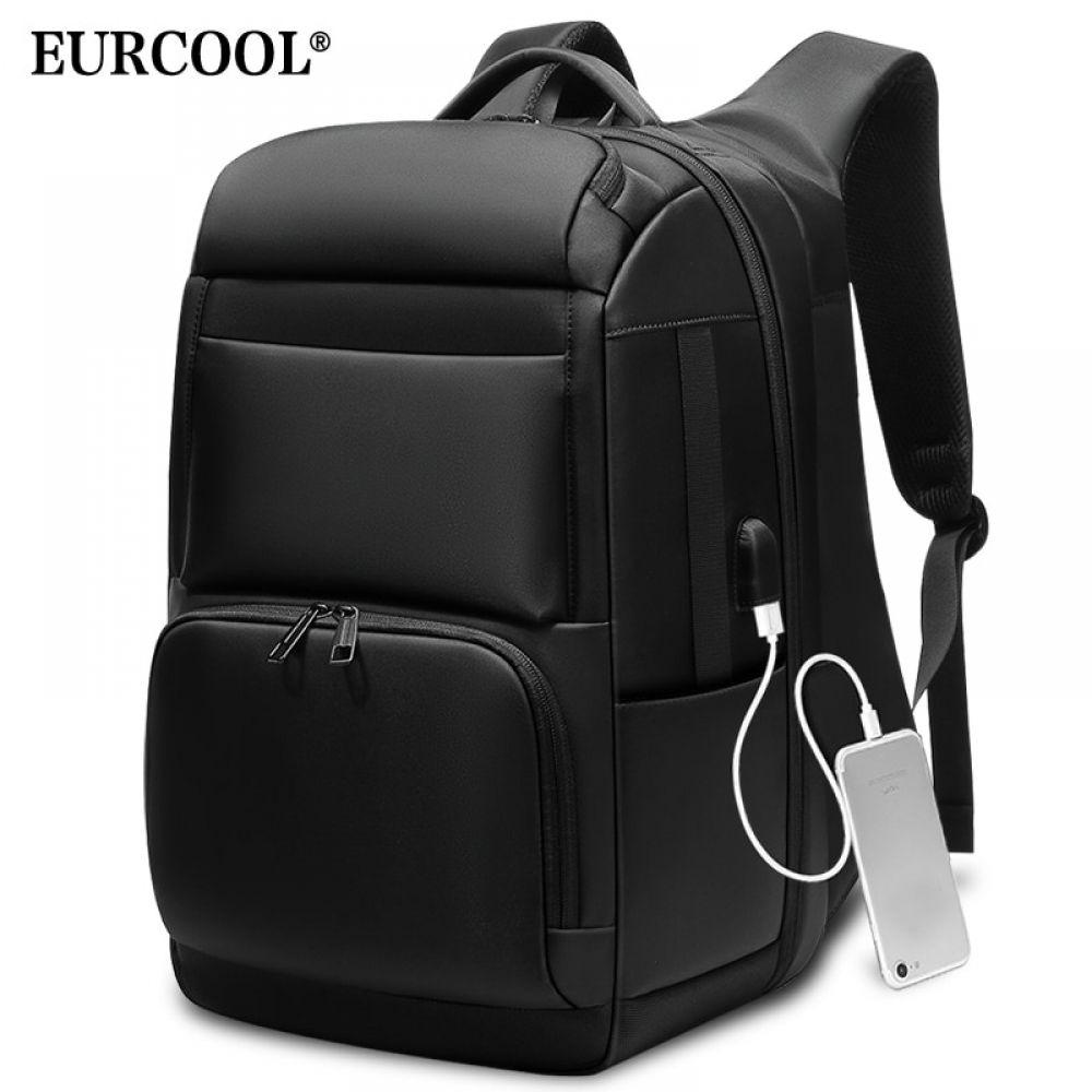 Men/'s Leather Travel Large Shoulders Bag Laptop Backpack Computer Notebook