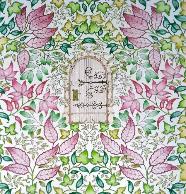 Johanna Basford Secret Garden Enchanted Forest Colouring In Adults Inky Treasures Ink