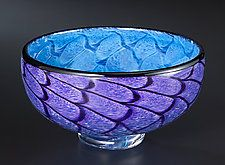 Storm Bowl: Purple & Blue by Thomas Kelly (Art Glass Bowl)